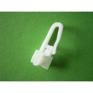 X-Gleiter mit Faltenlegehaken beweglicher Kopf für Alu Schiene einzeln oder im 100er Beutel