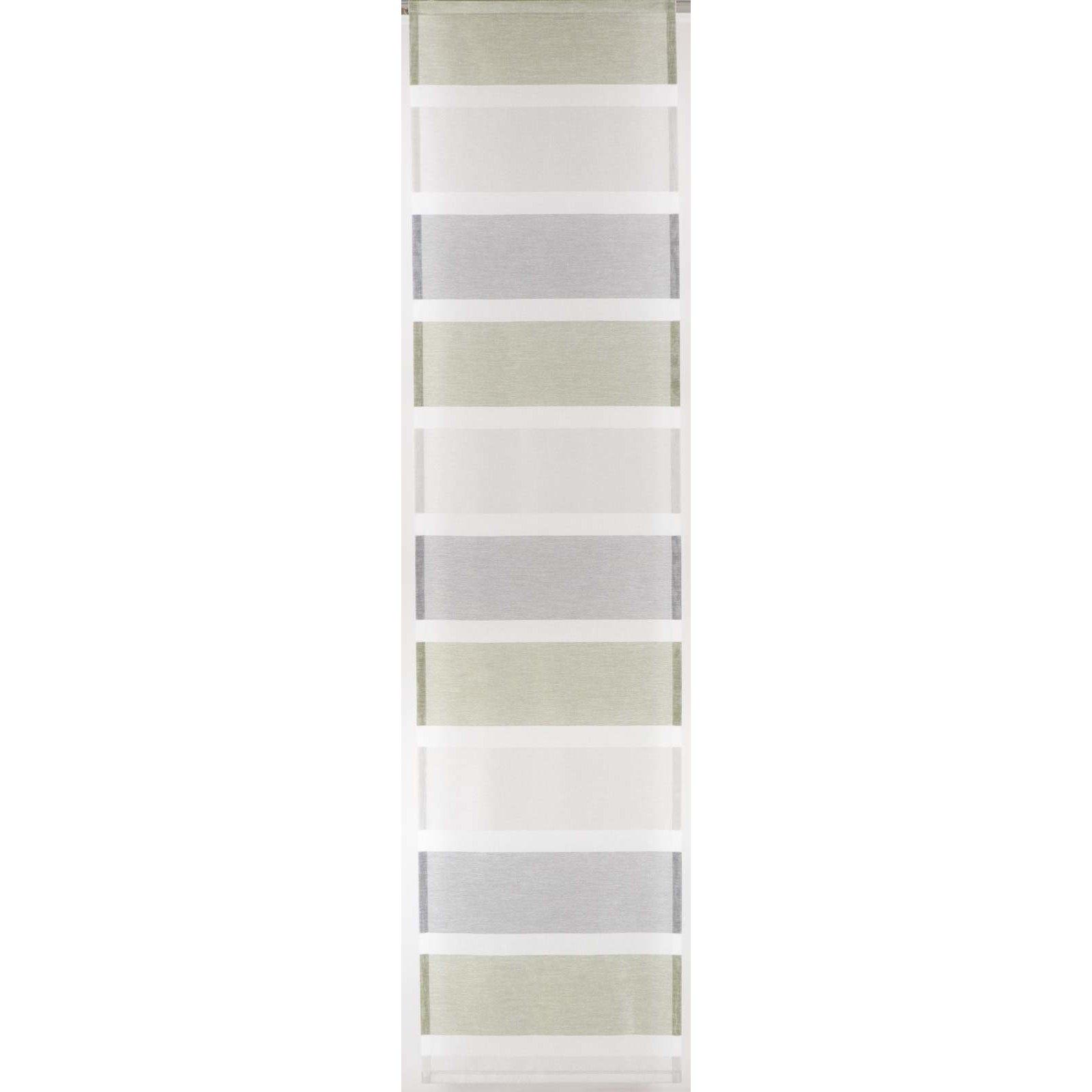 Schiebevorhang Grün Grau Quer Gestreift 60x245cm