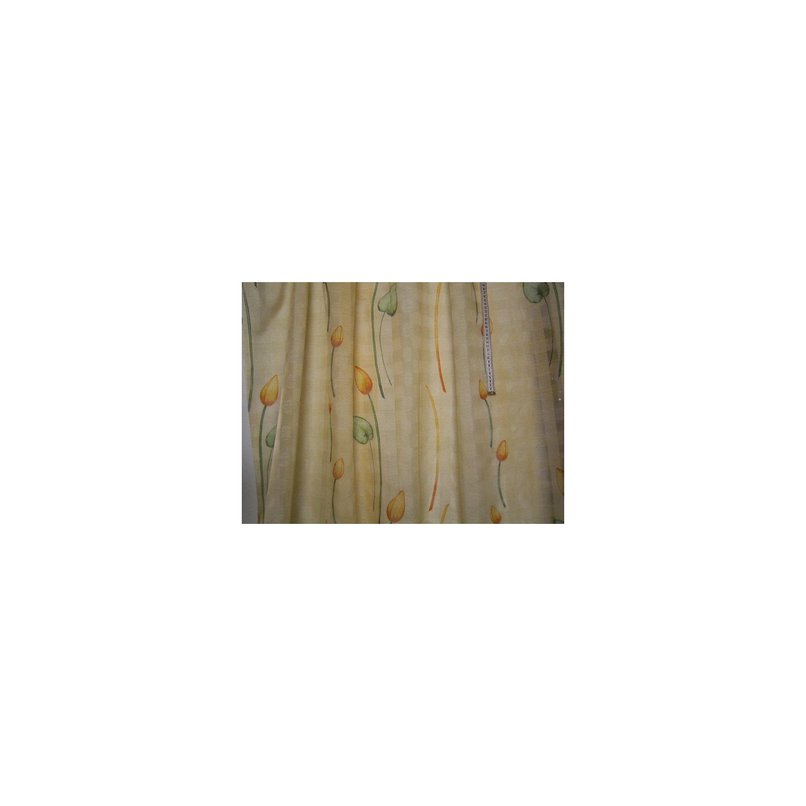 Gardinen raffrollostoff transparent kariert mit zweigen in orange und gruen.jpg