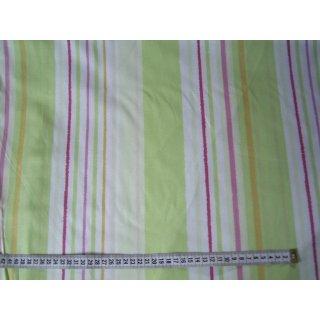 Baumwollstoff Gardinenstoff grün längs gestreift 280cm breit