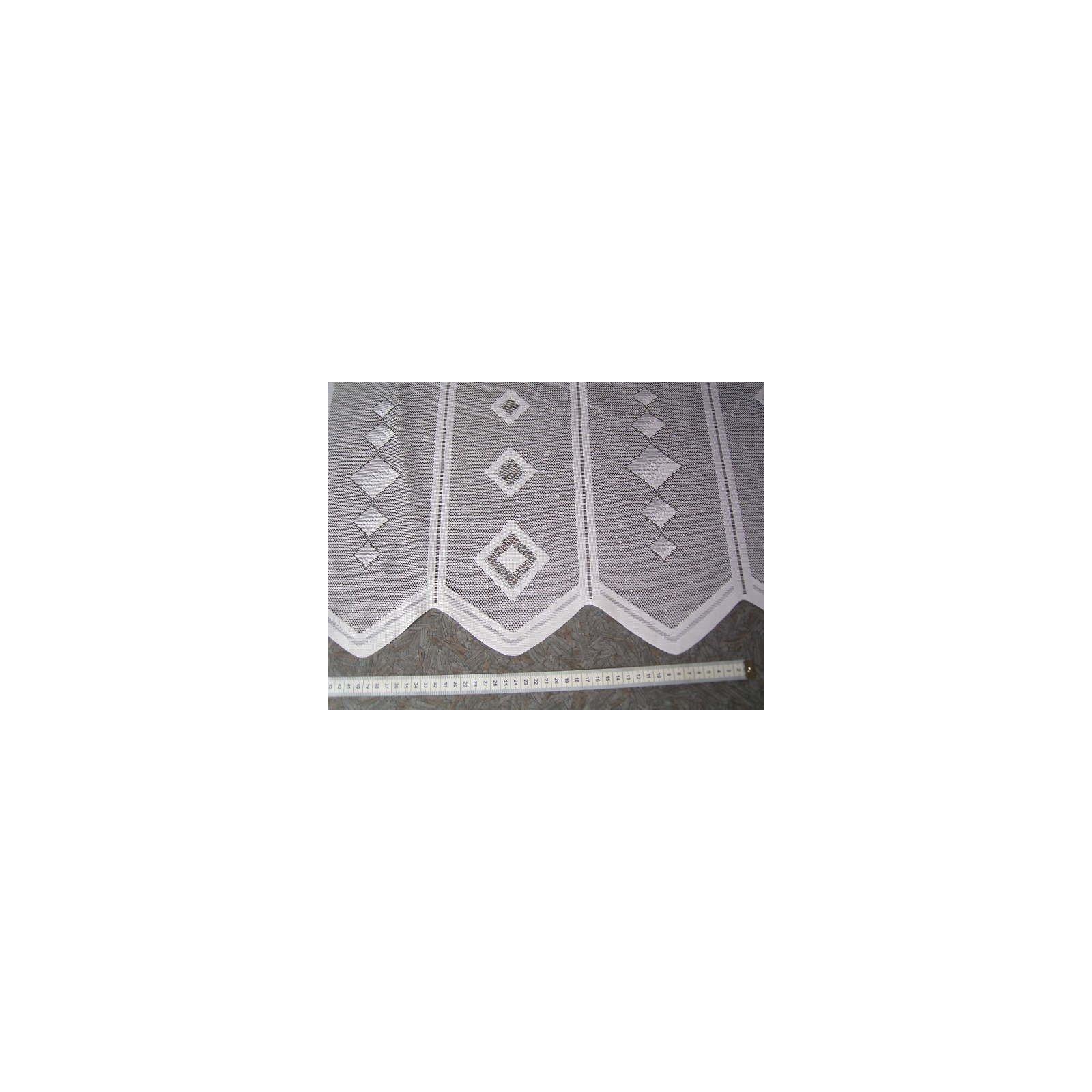 scheibengardine n hfrei 60cm hoch wei muster in wei. Black Bedroom Furniture Sets. Home Design Ideas