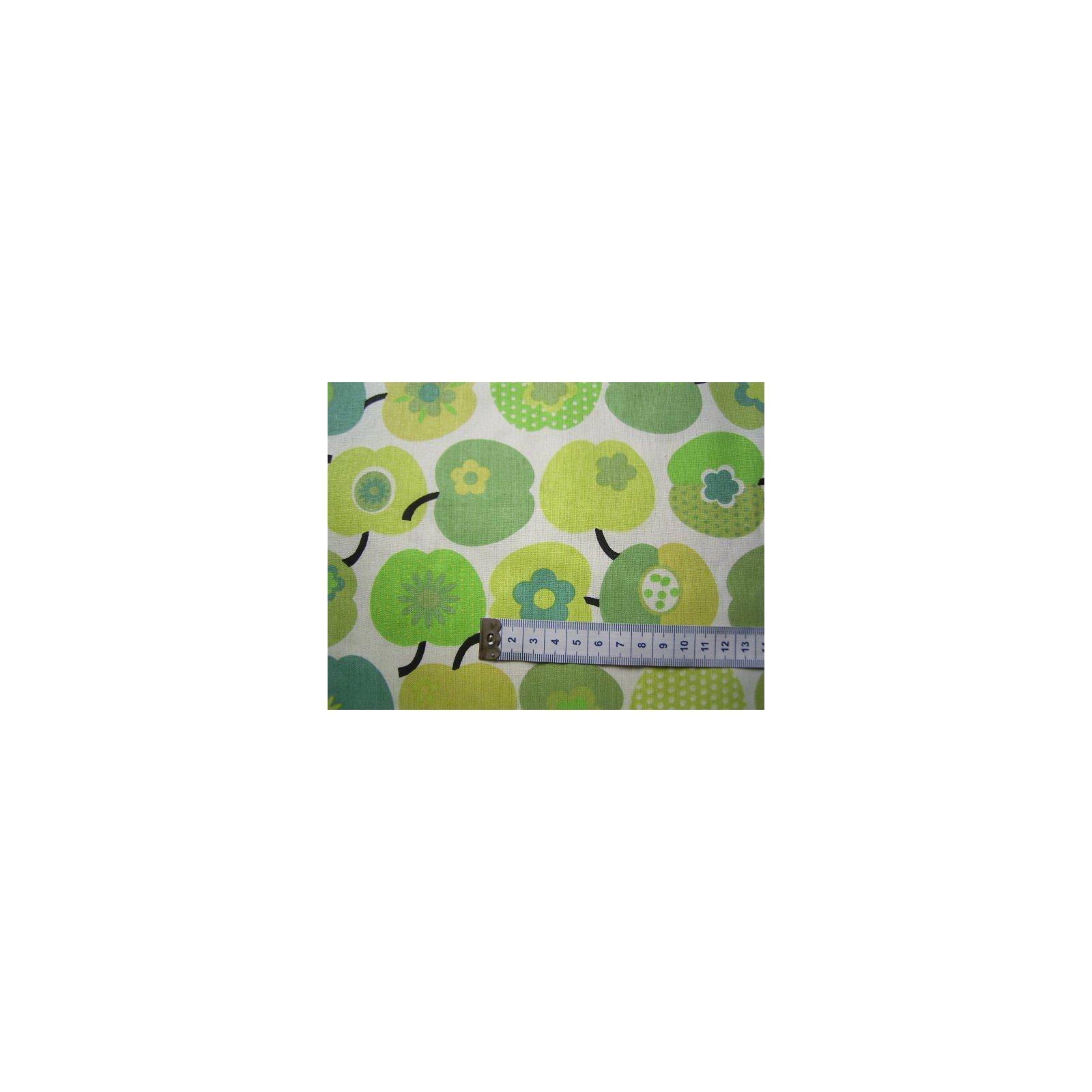 baumwoll patchwork stoff natur pfel gr n. Black Bedroom Furniture Sets. Home Design Ideas