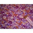 Jersey mit Streublumen lila
