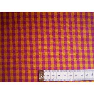 Baumwollstoff orange pink kariert ca.5mm