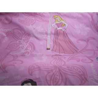 Gardinenstoff rosa mit Prinzessin Schrift Baumwollstoff 280cm breit