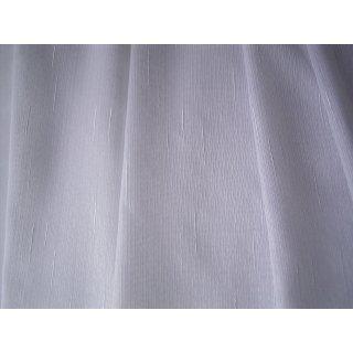 Weißer Diolen Gardinenstoff mit feiner Noppen