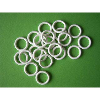 Plastik Ring weiß 13x18mm