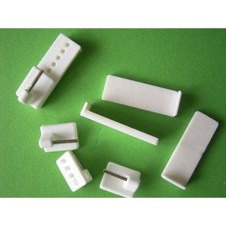 Vitragen Gardinenhaken weiß selbstklebend verstellbar