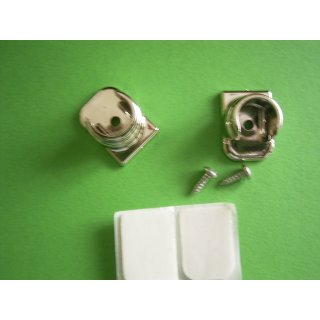 System Ø 12mm Wandlager Kunststoff messing mit Klebeplatte