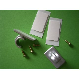 System Ø 12mm Kunststoff Träger kurz offen chrom matt mit Klebeplatte