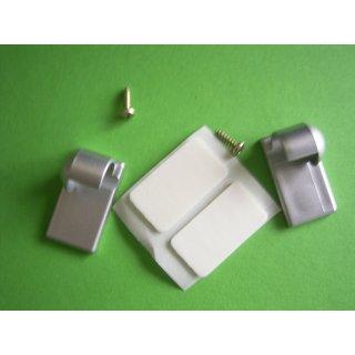 System Ø 12mm Kunststoff Träger kurz geschlossen chrom matt mit Klebeplatte