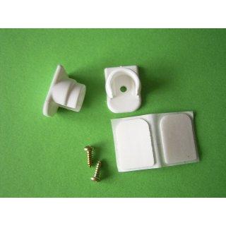 System Ø 12mm Wandlager Kunststoff weiß mit Klebeplatte
