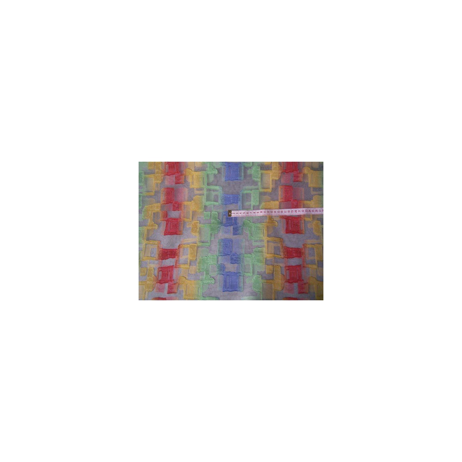 organzastoff rohwei mit gr n gelb rot und blau l ngs. Black Bedroom Furniture Sets. Home Design Ideas