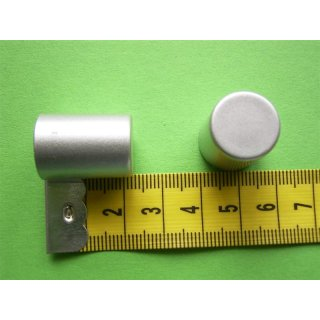 System Ø 12mm Kunststoff Endkappe chrom matt