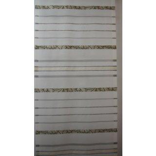 Flächenvorhang (Schiebegardine) Deko Voile schwarz quer gestreift