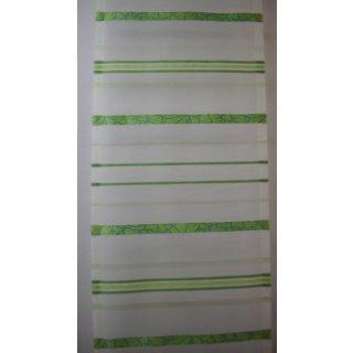 Flächenvorhang (Schiebegardine) Deko Voile grün quer gestreift